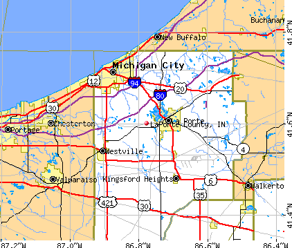 LaPorte County, IN map