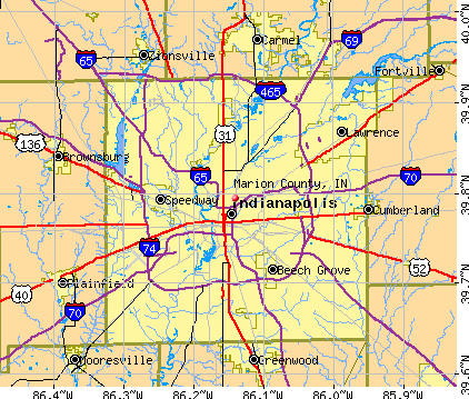 Marion County, IN map