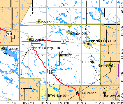 Noble County, IN map