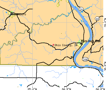 Ohio County, IN map