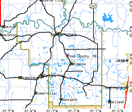 Pike County, IN map