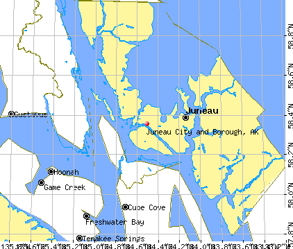 Juneau City and Borough, AK map