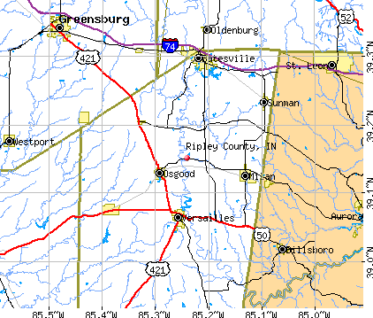 Ripley County, IN map
