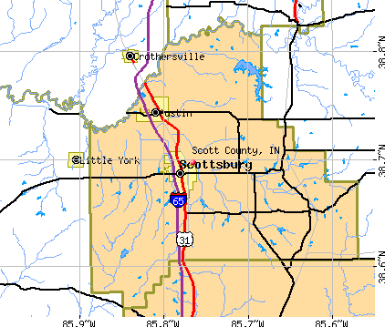 Scott County, IN map
