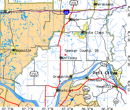 Spencer County, IN map