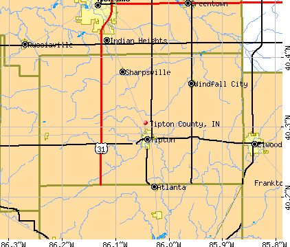 Tipton County, IN map