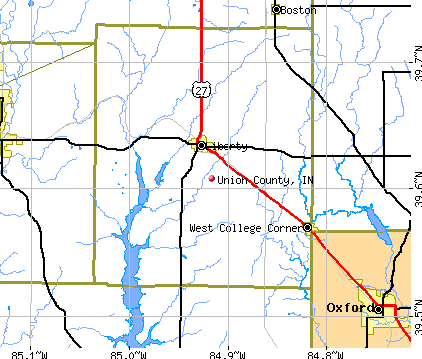 Union County, IN map