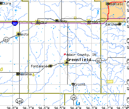 Adair County, IA map