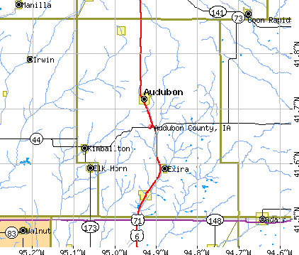 Audubon County, IA map