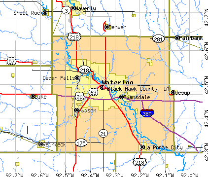 Black Hawk County, IA map