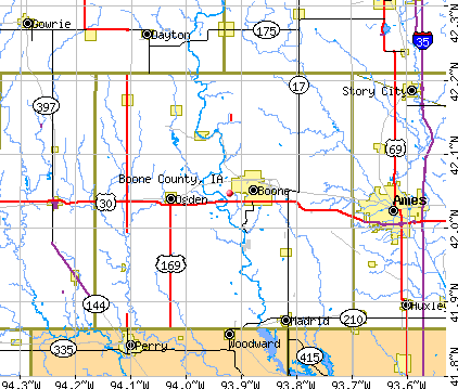 Boone County, IA map