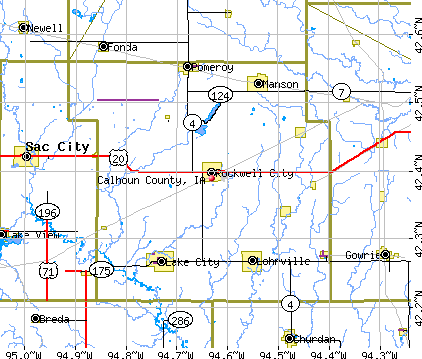 Calhoun County, IA map