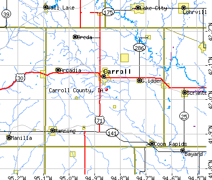Carroll County, IA map