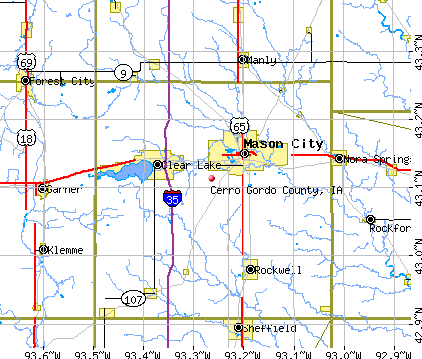Cerro Gordo County, IA map