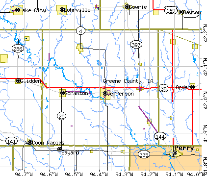 Greene County, IA map