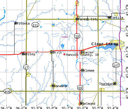 Hancock County, IA map
