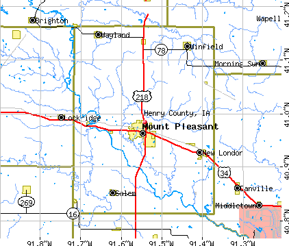 Henry County, IA map