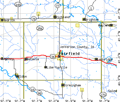Jefferson County, IA map