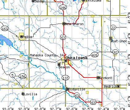 Mahaska County, IA map