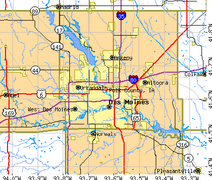 Polk County, IA map