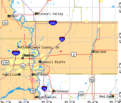 Pottawattamie County, IA map