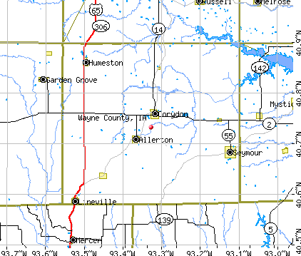Wayne County, IA map
