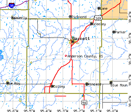 Anderson County, KS map