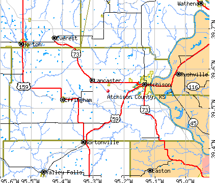 Atchison County, KS map