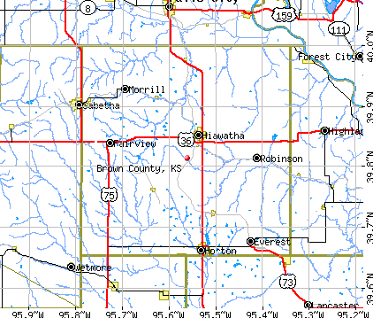Brown County, KS map