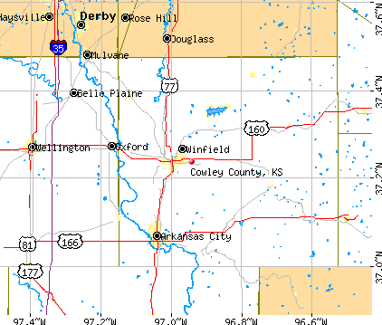 Cowley County, KS map