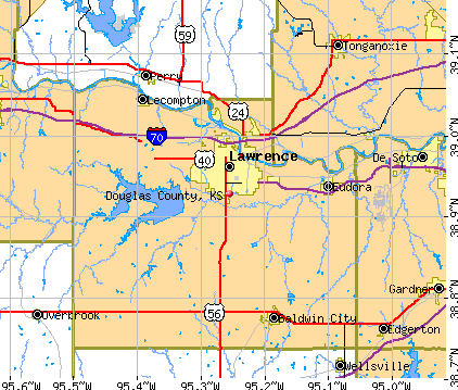Douglas County, KS map