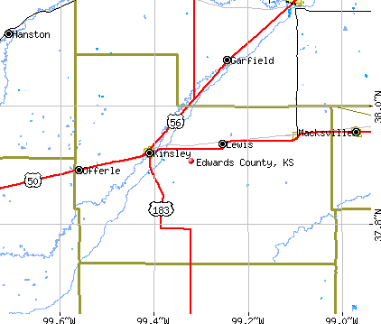 Edwards County, KS map