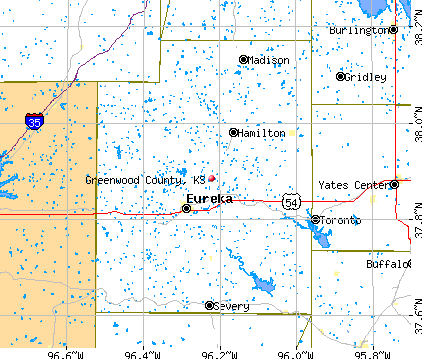 Greenwood County, KS map