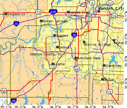Johnson County, KS map