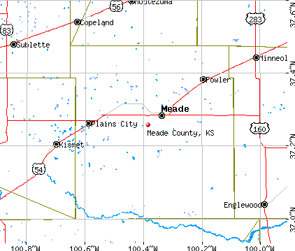 Meade County, KS map