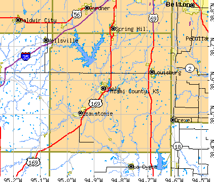 Miami County, KS map