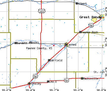 Pawnee County, KS map