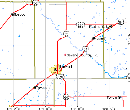 Seward County, KS map