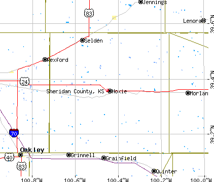 Sheridan County, KS map
