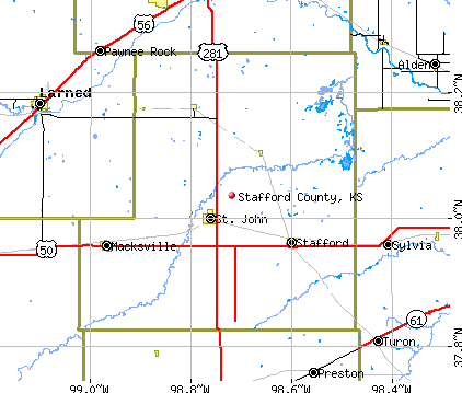 Stafford County, KS map
