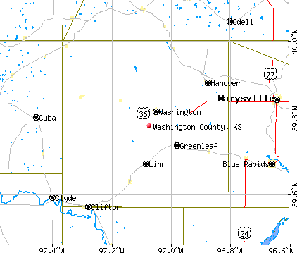 Washington County, KS map