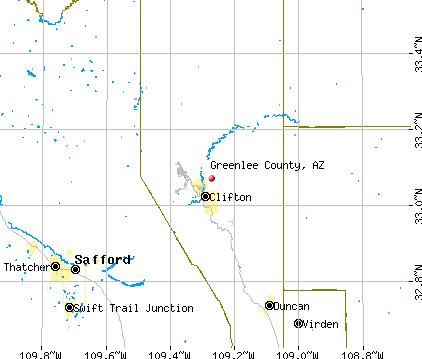 Greenlee County, AZ map