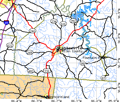 Allen County, KY map