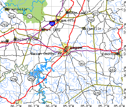 Barren County, KY map