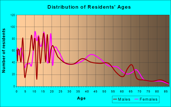 Age and Sex of Residents in zip code 00606
