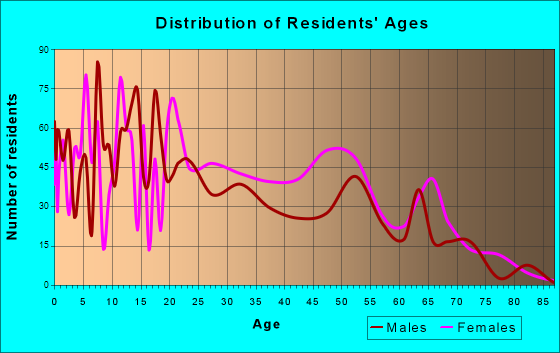 Age and Sex of Residents in zip code 00741