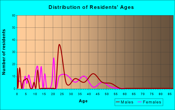 Age and Sex of Residents in zip code 00934