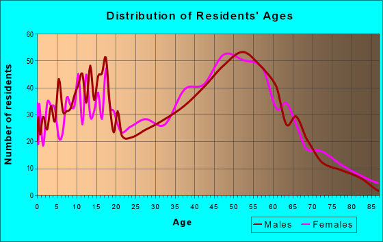 Age and Sex of Residents in zip code 03307