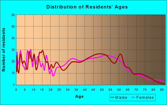 Age and Sex of Residents in zip code 04048