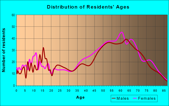 Age and Sex of Residents in zip code 04079